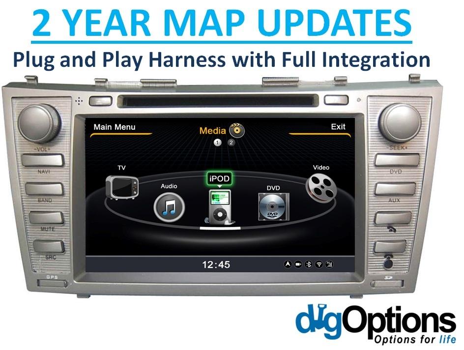 navigation head unit dvd gps bluetooth stereo hd for. Black Bedroom Furniture Sets. Home Design Ideas