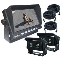 "7"" HD Monitor & Premium CMOS 2 Camera Horse Float Camera Kit Night Vision"