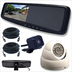 4.3 LCD Rearview Mirror Monitor with 2 Inputs Vehicle Specific Mount INC Cam Kit