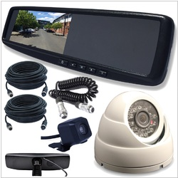 4.3 LCD Rearview Mirror Monitor with 2 Inputs Vehicle Specific Mount Camera  INC