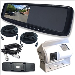 LCD 4.3 Rearview Mirror Monitor with 2 Inputs Universal Clip OnStyle 700TV Lines