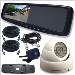 4.3 LCD Rearview Mirror Monitor with 2 Inputs Universal Clip OnStyle Camera INC