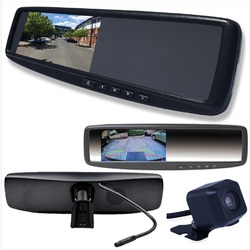 4.3 LCD Rearview Mirror Monitor with 2 Inputs Vehicle Specific Mount INC Cam
