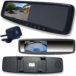 4.3 LCD Rearview Mirror Monitor & 2 Inputs Universal Clip OnStyle INC Camera Clip