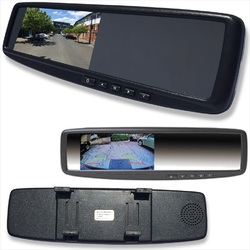 4.3 LCD Rearview Mirror Monitor 2 Inputs Universal Clip On Style Replacement