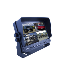 "Masten 7"" Caravan Truck Car Monitor Backup Rear View Quad View Video 4 Inputs DVR"