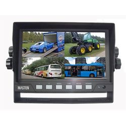 7 TFT LCD Car Monitor Waterproof Backup Rear View Quad View Video 4 Inputs