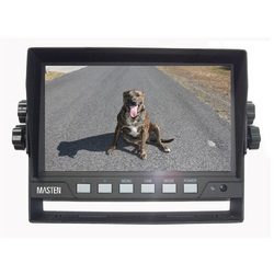 7 inch TFT-LCD Car Monitor Backup Camera 2 Inputs Full Colour & Submersible LED