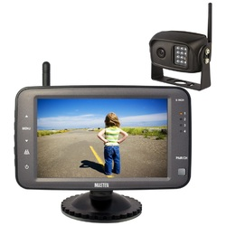 "2.4GHz  HD Wireless 5"" Monitor CCD Camera Reverse Rear View Car Truck Kit IR    Horse Float"