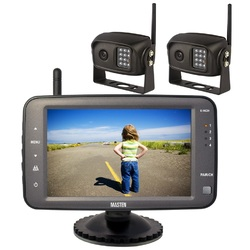 "2.4GHz HD Wireless 5"" Monitor & 2 CCD Camera Revese Rear View Kit  Car Truck    Digital  Horse Float"