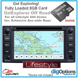 8GB Card Pre-loaded with Australia-wide Navigation Topographic Digital Map