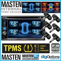 TPMS Tire Pressure Monitor System 6 Internal Valve 22 Sensors DVD Video Car Set