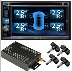 TPMS Tire Pressure Monitor System 4 Internal Valve 22 Sensors DVD Video Car