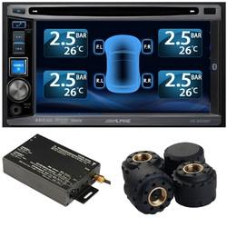 TPMS Tire Pressure Monitor System 4 External Cap22 Sensors DVD Video Car Module