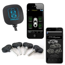 Bluetooth TPMS Tyre Tire Pressure Monitor System Car Motorcycle Android iPhone    iTPMS iOS
