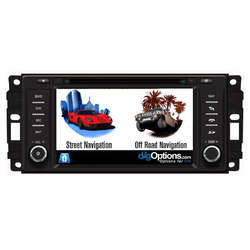 GPS For Jeep Wrangler Cherokee Patriot Compass Bluetooth Car Player Navigation Radio Stereo DVD