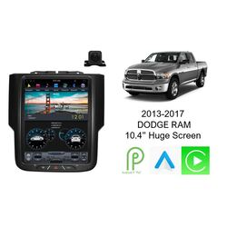 "Android 9 10.4"" GPS Bluetooth Car Player Navigation System For Dodge RAM 2013-2017 with camera"