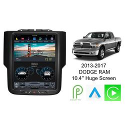 "Android 9 10.4"" GPS Bluetooth Car Player Navigation System For Dodge RAM 2013-2018"