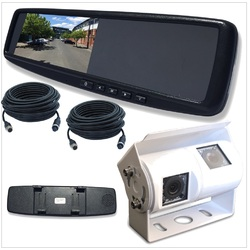 4.3LCD Rearview Mirror Monitor with 2 Inputs Universal Clip OnStyle Camera INC