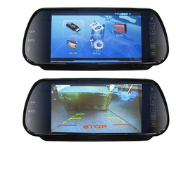 "7"" HD Digital Clip On LCD Rearview mirror monitor with 2 Inputs"