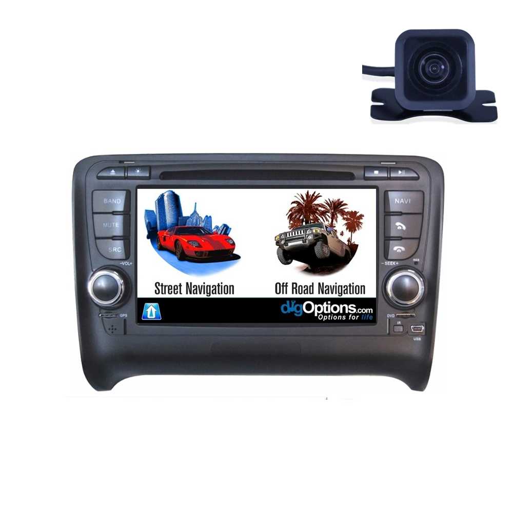 For Audi TT 8J 2006-2014 GPS Bluetooth Car Player Navigation Radio Stereo DVD INC CAM Dmax Touch