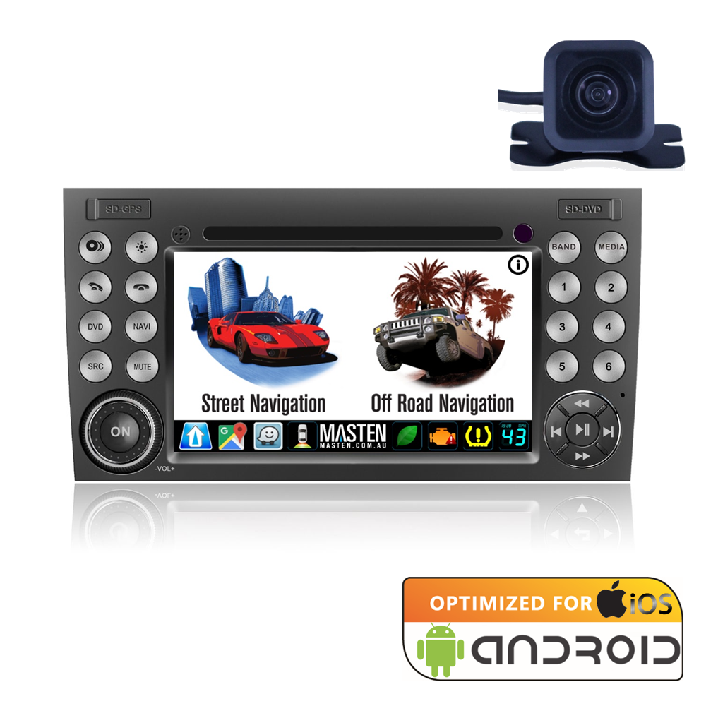Android For Mercedes-Benz SLK R171/W171 Nav Bluetooth Car Player Navigation Radio Stereo DVD Inc Camera