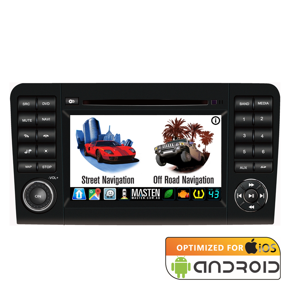 For MERCEDES M CLASS ML 05 - 11 GPS Bluetooth Car Player Navigation Radio Stereo DVD