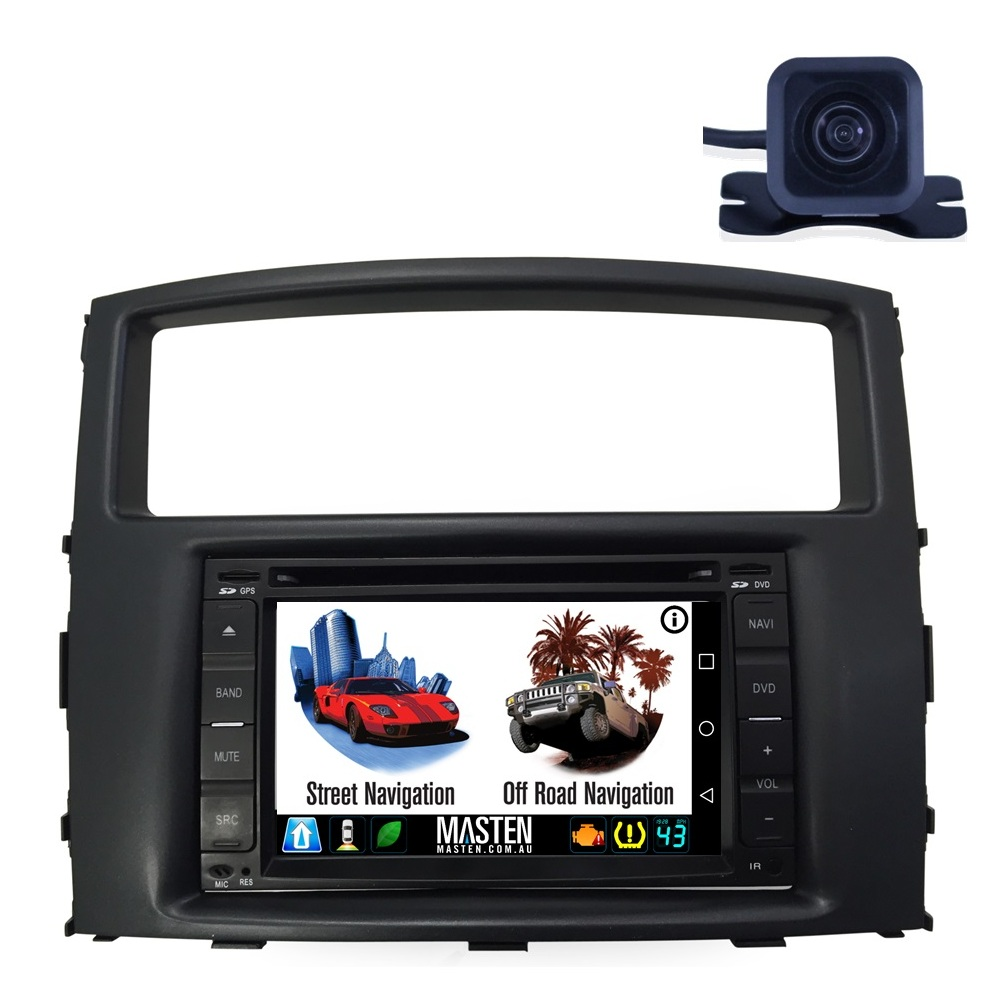 For Mitsubishi Pajero NW NS NT NW NX 06-15 GPS Nav Bluetooth Car Player Navigation Radio Stereo DVD INC CAM