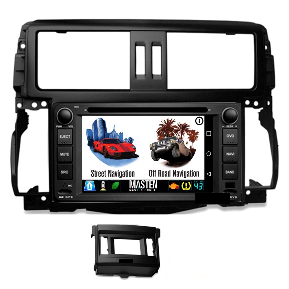 Android GPS Bluetooth Car Player Navigation Radio Stereo DVD Inc FAS For Toyota Land Cruiser Prado 150 09-13 GX GXL