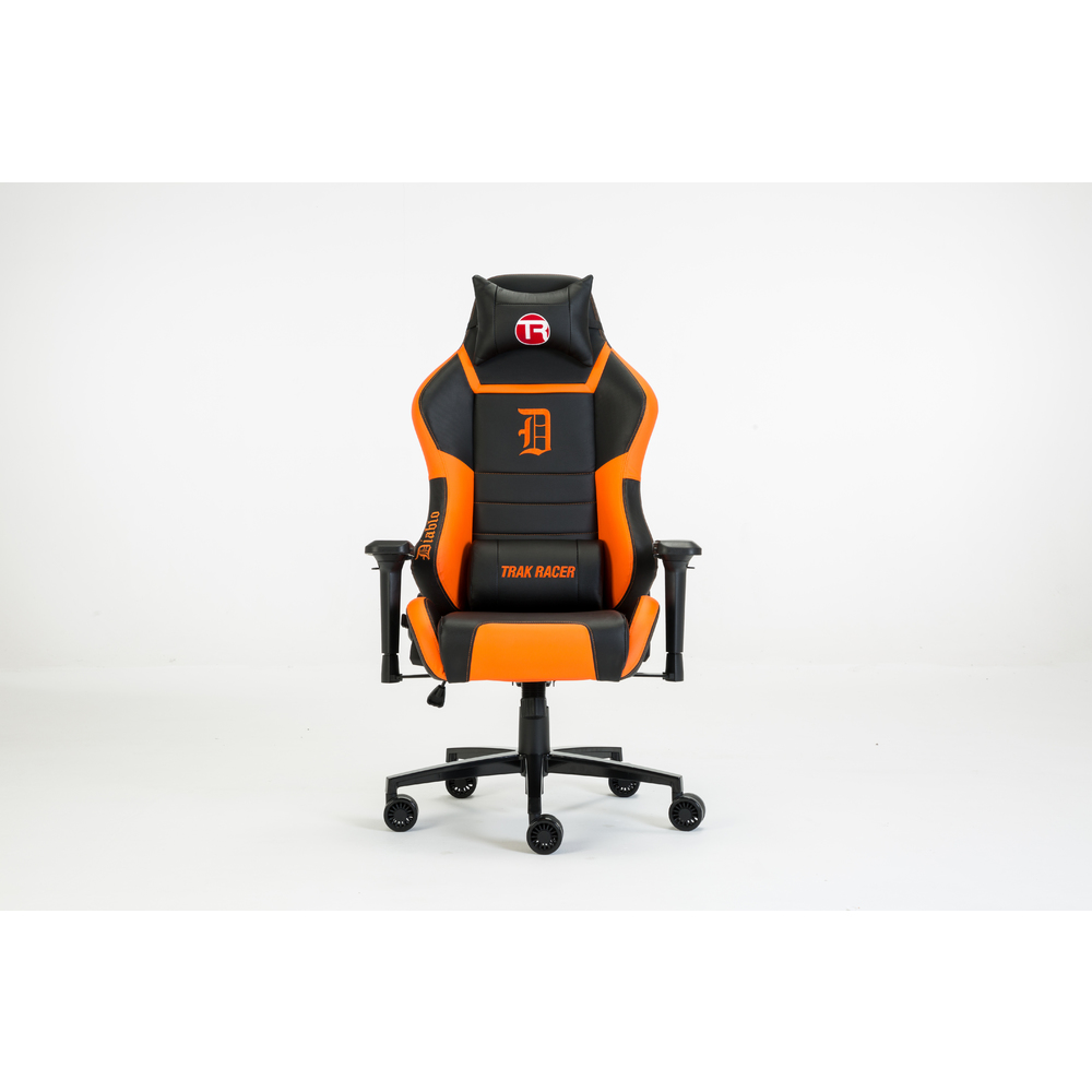 Trak Racer DIABLO Gaming Chair - Office Computer Racing PU Leather Executive Black Orange Race