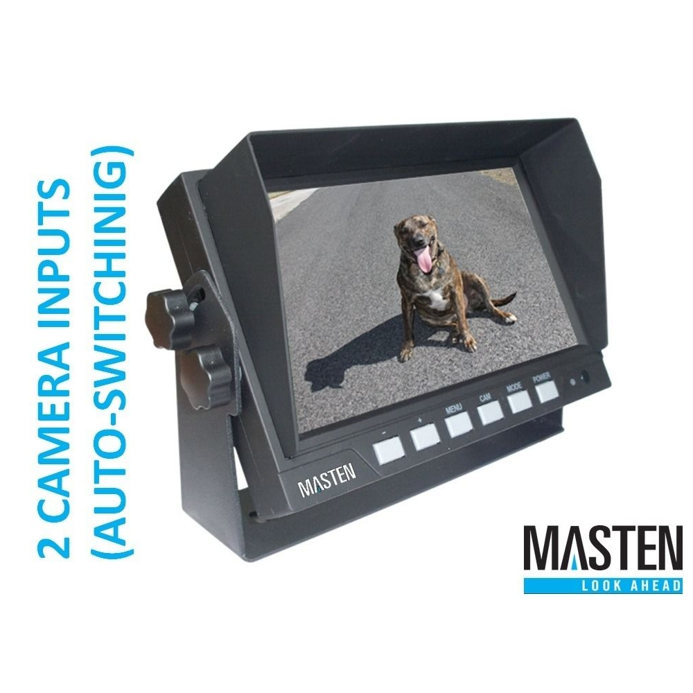 7 inch TFT-LCD Car Monitor Backup Camera 2 Inputs Full Colour